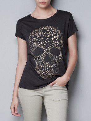 STARRY SKULL TEE - product image