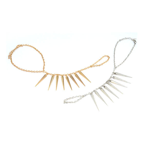 SPIKE FINGER CHAIN BRACELET - product image