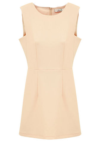 SLIM,SHIFT,DRESS,NUDE