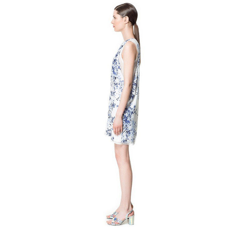 SLEEVELESS FLORAL LAYER DRESS - product image