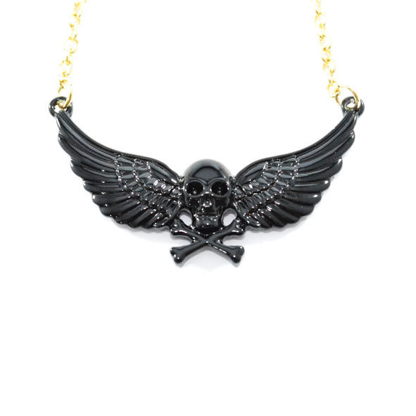 SKULL WITH WINGS NECKLACE - product image