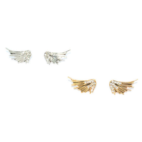 SHINY,WING,WITH,CRYSTALS,EARRINGS