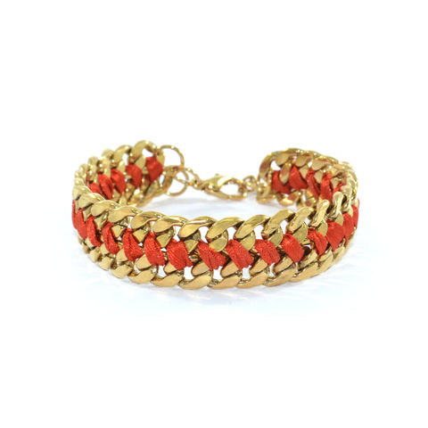 WOVEN,STRING,AND,CHAIN,BRACELET,CHAIN BRACELET, STRING BRACELET, CHAIN AND STRING BRACELET, GOLD CHAIN AND STRING BRACELET, RED STRING AND CHAIN BRACELET