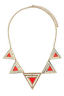 MULTI,TRIANGLE,PENDANT,NECKLACE