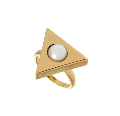 TRIANGLE WITH PEARL RING - product images