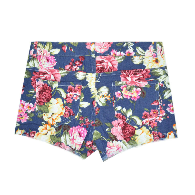 DENIM FLORAL PATTERN SHORTS - Rings & Tings | Online fashion store ...