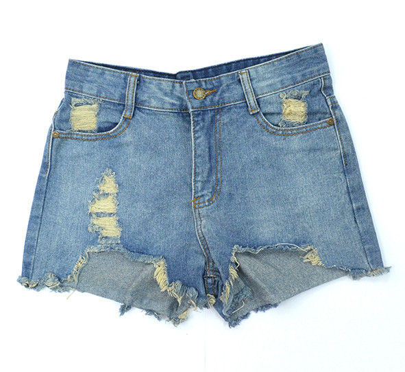 FRAYED DENIM SHORTS - product image