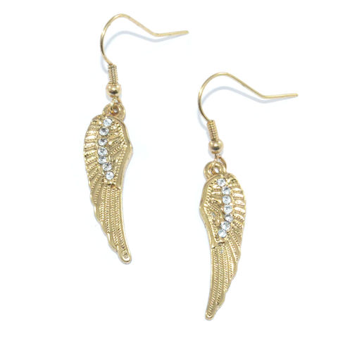 ANGEL,WING,DROP,EARRINGS,ANGEL WING EARRING, WING EARRINGS, WING DROP EARRINGS, GOLD WING DROP EARRINGS,CRYSTAL WING DROP EARRINGS