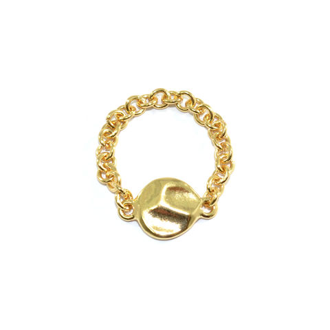 IRREGULAR,CHARM,RING,CHAIN RING, GOLD CHAIN RING, IRREGULAR RING , IRREGULAR CHARM PENDANT RING