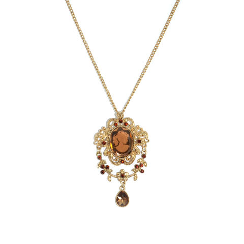 VINTAGE,STYLE,LADY,PENDANT,NECKLACE,VINTAGE LADY NECKLACE, CRYSTAL NECKLACE, VINTAGE CRYSTAL LADY PENDANT NECKLACE, CRYSTAL PENDANT NECKLACE