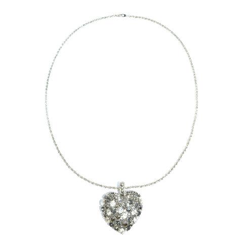 CRYSTAL, Hollow, CORAÇÃO, colar, colar de coração, Oco colar de coração, cristal colar de coração, coração oco SHAPE COLAR