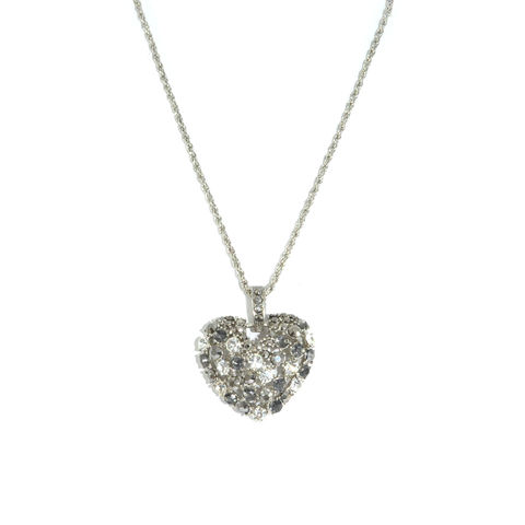 CRYSTAL,HOLLOW,HEART,NECKLACE,HEART NECKLACE, HOLLOW HEART NECKLACE, CRYSTAL HEART NECKLACE, HOLLOW HEART SHAPE NECKLACE