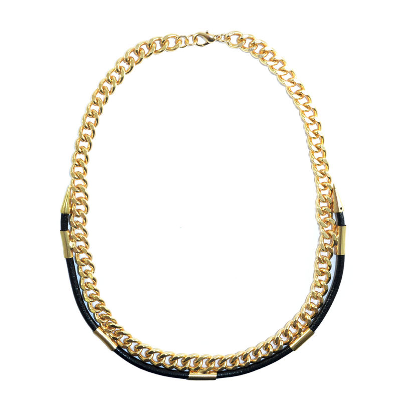 STRAP WITH SPIKE CHAIN NECKLACE - product image