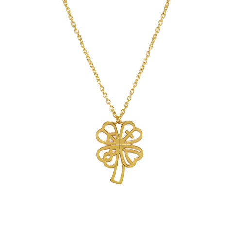 LUCKY,LEAVES,PENDANT,NECKLACE,LUCKY LEAVES NECKLACE, LUCKY LEAF CHARM NECKLACE, GOLD LUCKY LEAF NECKLACE,BLACK LUCKY LOGO PENDANT NECKLACE