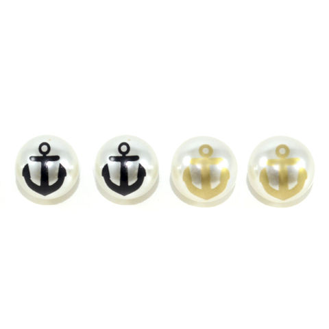 PEARL,ANCHOR,EARRINGS,PEARL EARRINGS, ANCHOR EARRINGS, MINIMAL PEARL EARRINGS, ANCHOR LOGO EARRINGS