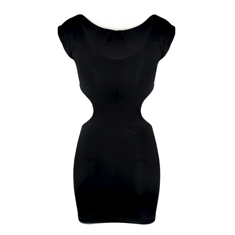 BLACK SHIFT DRESS - product image