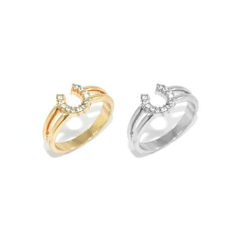 HORSESHOE,RING,HORSESHOES RING, CRYSTAL HORSESHOE RING, GOLD HORSESHOE RING, SILVER HORSESHOE RING