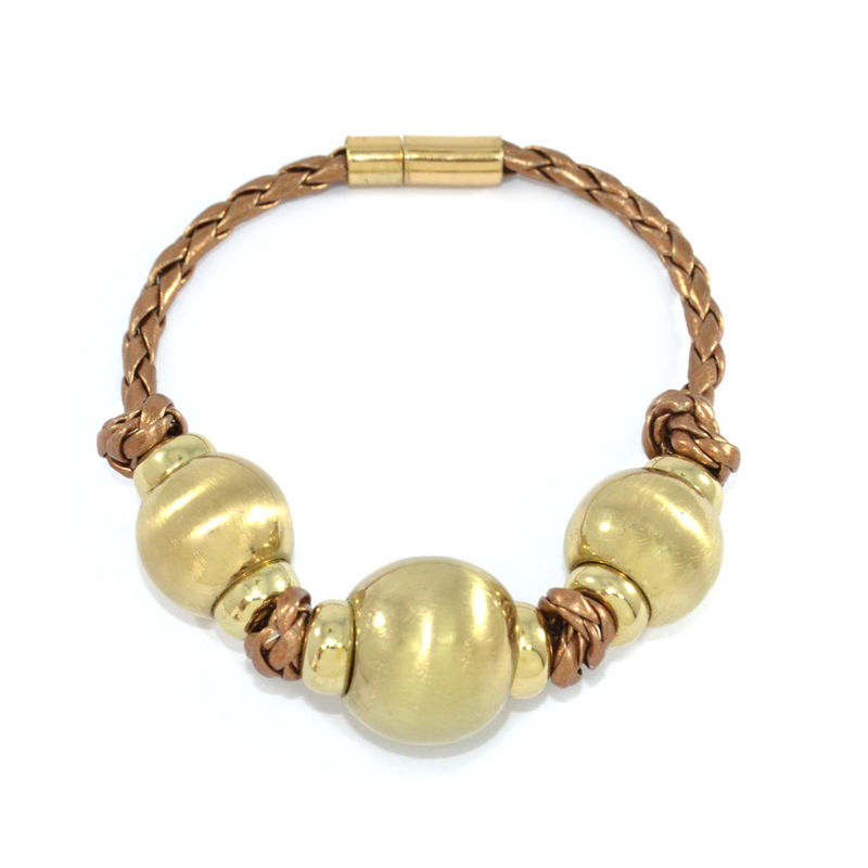 TRIPLE BEADS PENDANT BRACELET - product image