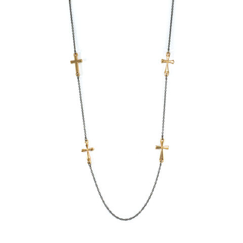 MULTI,CROSS,PENDANT,LONG,NECKLACE,CROSS NECKLACE, MULTI CROSS NECKLACE, LONG CROSS NECKLACE, MULTI STYLE CROSS NECKLACE