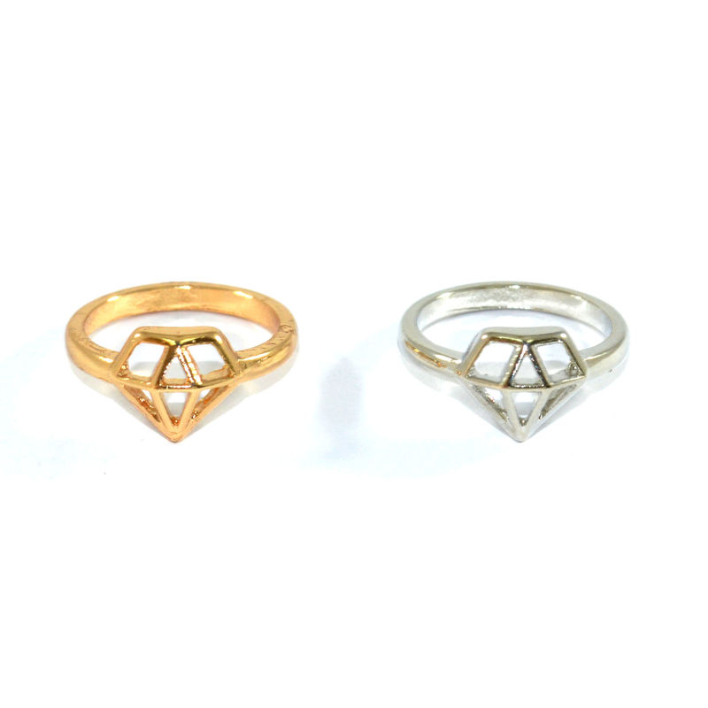 HOLLOW DIAMOND RING - product image
