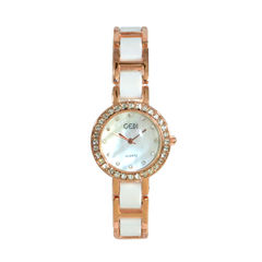 CRYSTAL,WATCH,ROSE GOLD WITH CRYSTAL WATCH, CRYSTAL DECOR WATCH, CLEAR CRYSTAL WATCH