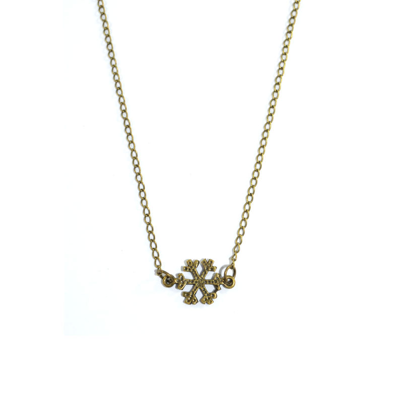 VINTAGE SNOWFLAKE NECKLACE - product image