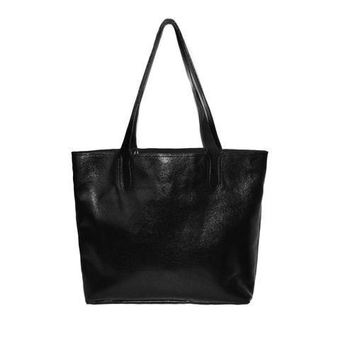 MINIMAL,BLACK,SHOULDER,BAG,TOTE BAG, LARGE TOTE BAG, BLACK TOTE BAG, BLACK LEATHER TOTE BAG
