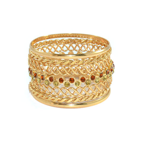 TWIST,CHAIN,BANGLE,SET,GOLD BANGLE, TWIST CHAIN BANGLE, WOVEN CHAIN BANGLE, CRYSTAL BANGLE