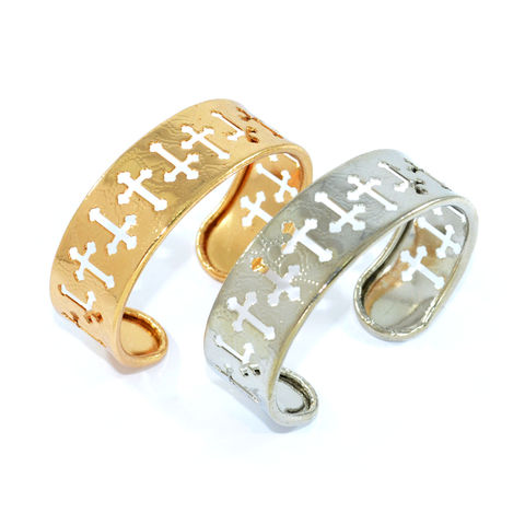 MULTI,HOLLOW,CROSS,BANGLE,CROSS BANGLE, HOLLOW CROSS BANGLE, HOLLOW PATTERN BANGLE, GOLD CROSS BANGLE, SILVER CROSS BANGLE