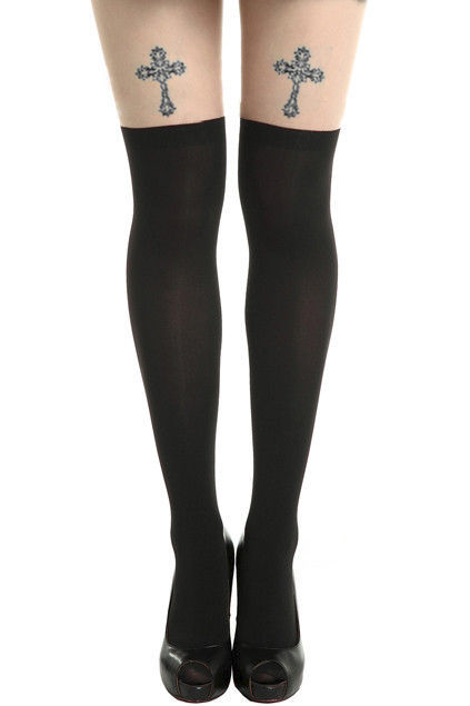 CROSS TATTOO TIGHTS - product image