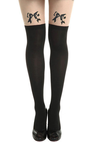 BOW,TATTOO,PATTERN,TIGHTS,bow suspender tights, fake tattoo suspender tights,fake bow tattoo suspender tights, ribbon bow suspender tights, fake ribbon tattoo suspender tights,fake ribbon bow tattoo suspender tights