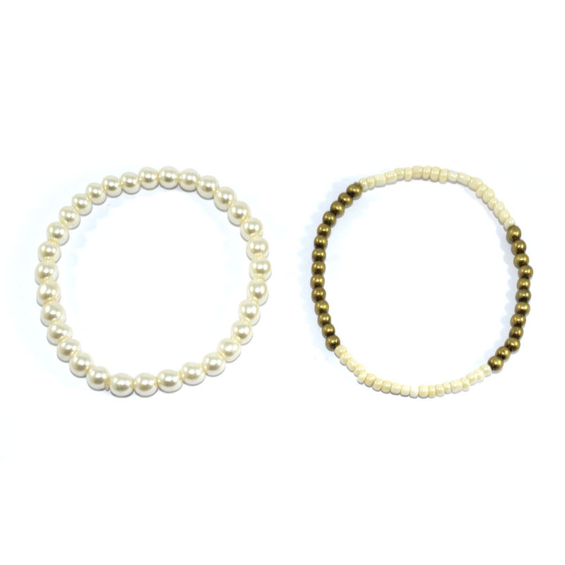 PEARL AND BEAD BRACELET SET - product images  of