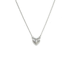MINIMAL,HEART,NECKLACE,HEART NECKLACE, HEART CHARM NECKLACE, SILVER HEART NECKLACE