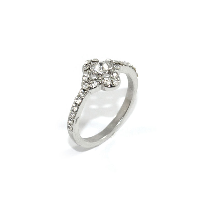 CRYSTAL CLOVER RING - product images  of