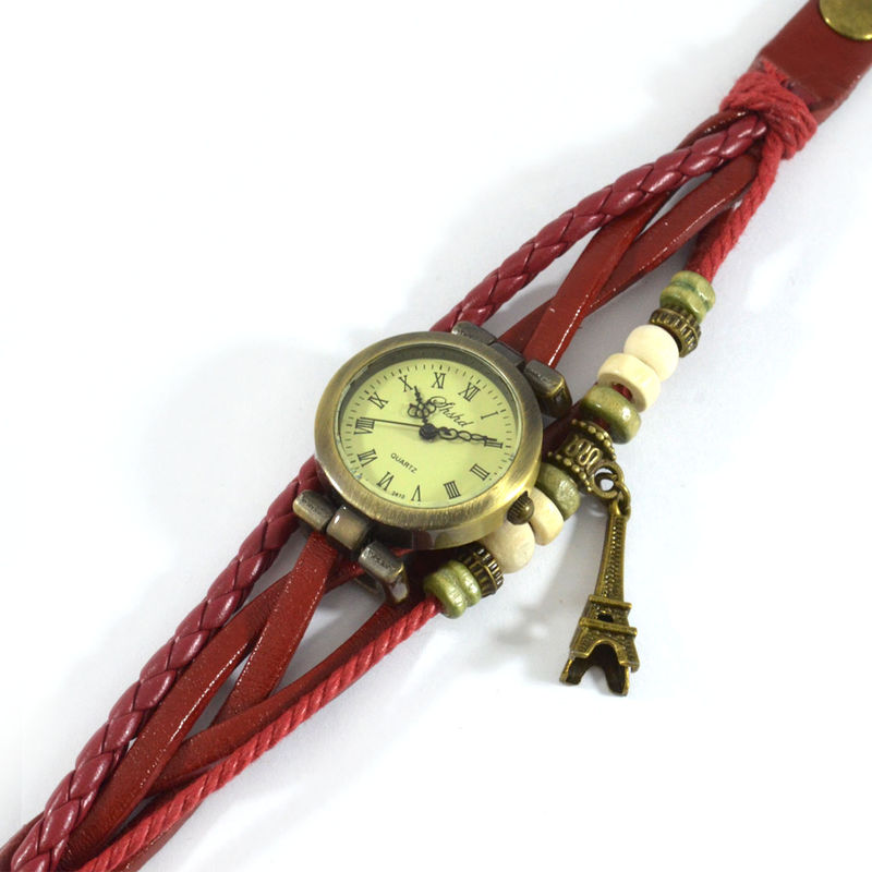 VINTAGE STRAP AND CHARM BRACELET WATCH - product image