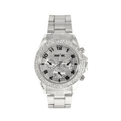 CLEAR,CRYSTAL,EDGE,WATCH,CRYSTAL WATCH, WHITE WATCH, GOLD EDGE WATCH, CRYSTAL DECOR EDGE WATCH