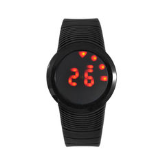 MINIMAL,DIGITAL,WATCH,DIGITAL WATCH, PLASTIC WATCH, ROUND DIGITAL WATCH, BLACK ROUND DIGITAL WATCH