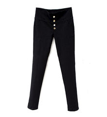BOTTON,HIGH,WAIST,JEANS,elastic jeans, black jeans, high waist jeans, high waist elastic jeans