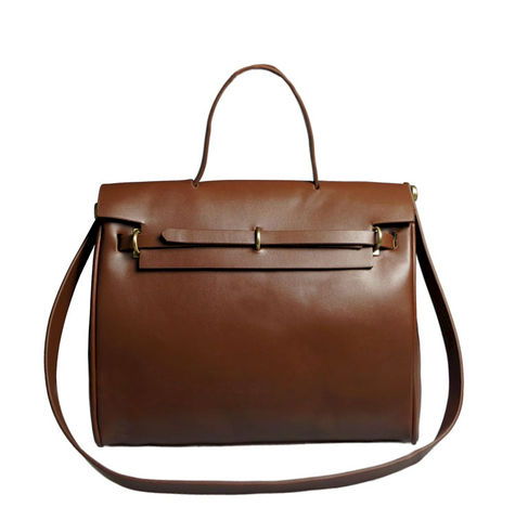 MINIMAL,FRONT,FLAP,SHOULDER,BAG,FRONT FLAP BAG,FRONT FLAP SHOULDER BAG, BROWN LEATHER FRONT FLAP SHOULDER BAG