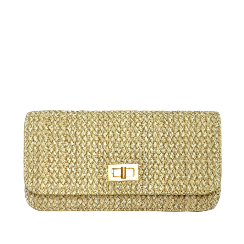 WOVEN STRAW PATTERN SHOULDER BAG 111 - product image