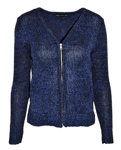 NAVY,ZIP,CARDIGAN
