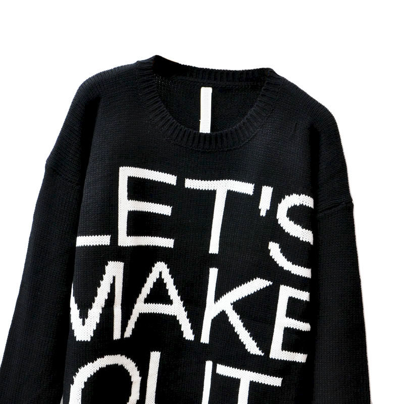LET'S MAKE OUT RIPPED SWEATER - product image