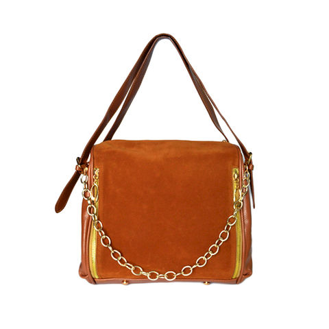 DOUBLE,ZIPS,FAUX,LEATHER,BAG
