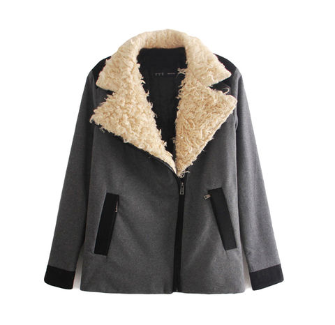 BIG,TEDDY,FUR,COLLAR,JACKET,fur collar jacket, grey with fur collar jacket, white fur collar jacket, fur collar coat