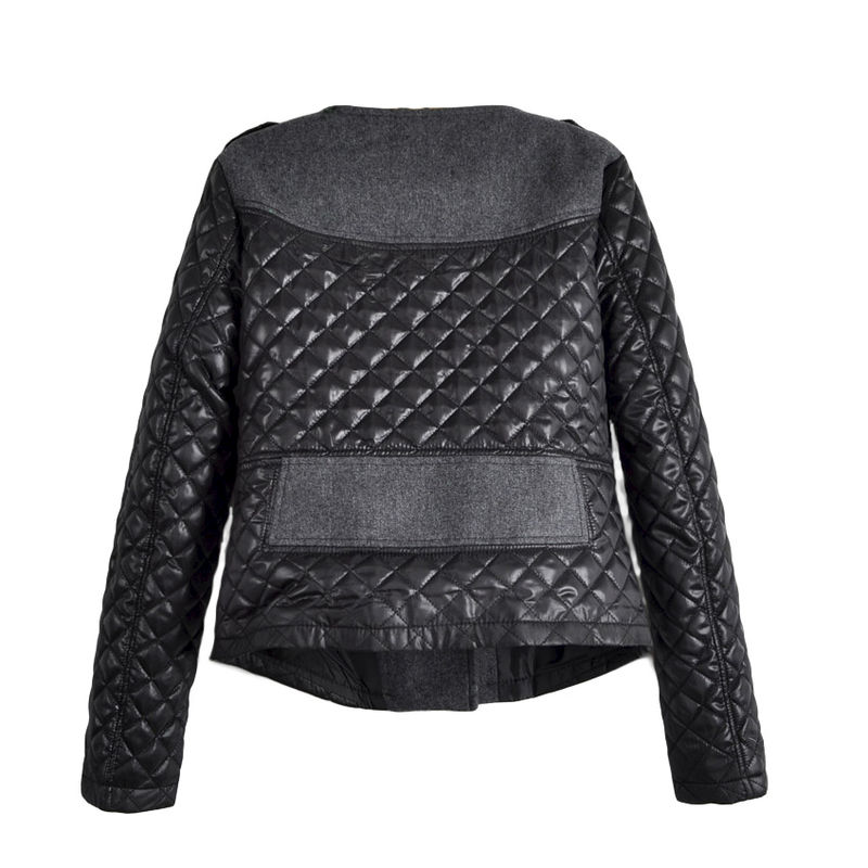 QUILTED BIKER JACKET - product image