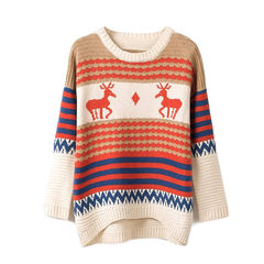 DEER,PATTERN,KNIT,JUMPER,DEER JUMPER, DEER PATTERN JUMPER, KNIT JUMPER, DEER KNITTED JUMPER