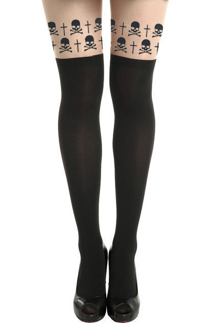 SKULL AND CROSS TIGHTS - product image