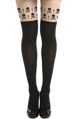 SKULL,AND,CROSS,TIGHTS,FAKE SKULL AND CROSS  TATTOO TIGHTS, SUSPENDER SKULL AND CROSS TIGHTS, BLACK SKULL AND CROSS FAKE TATTOO SUSPENDERTIGHTS