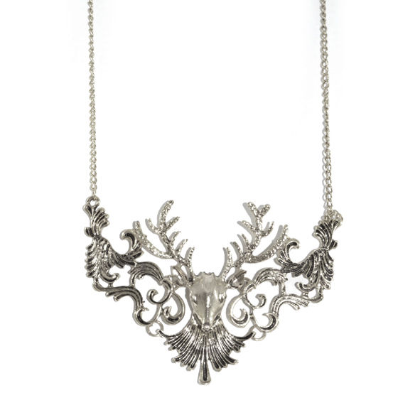 DEER FILIGREE BIB NECKLACE - product image