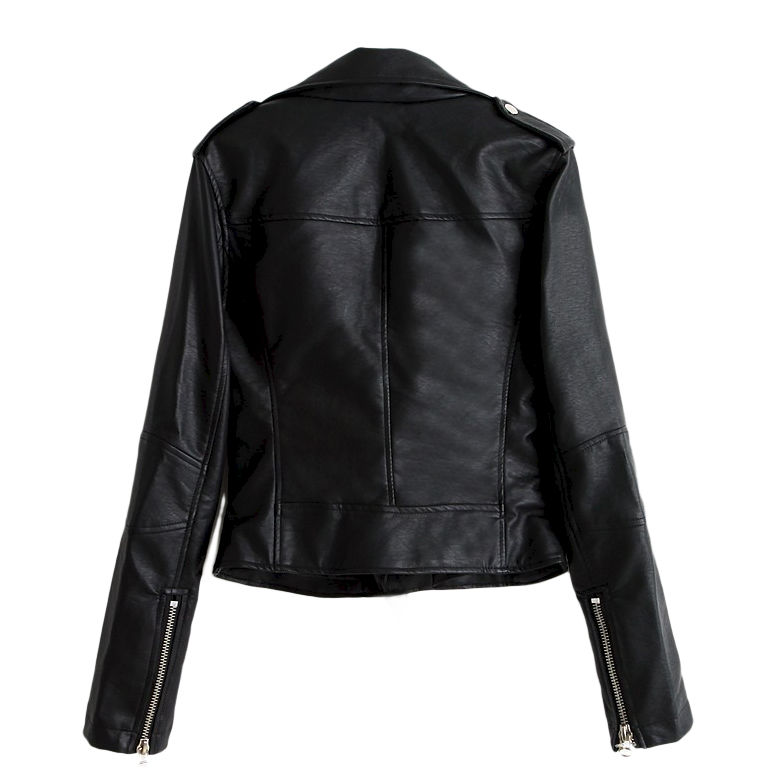ZIPPER LEATHER LOOK JACKET - product image